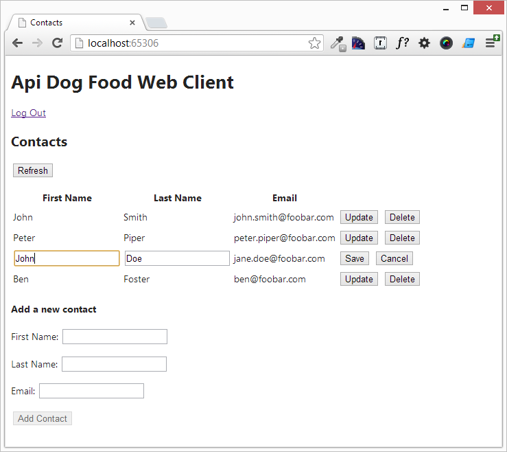 APIDogFood Demo