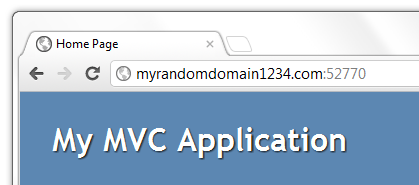 Running your application under the test domain